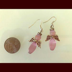 Angel earrings with silver-plated ear hooks